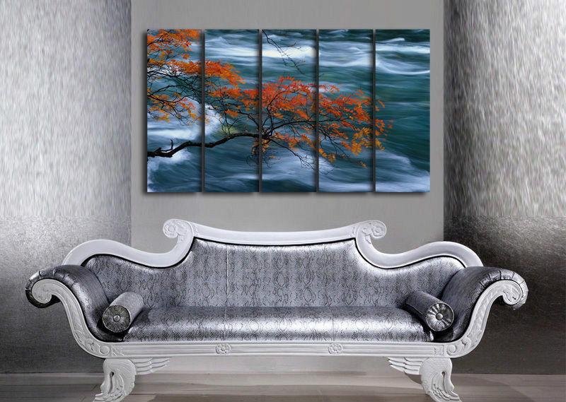 Árvore arte da parede na lona pintura a óleo(China (Mainland))