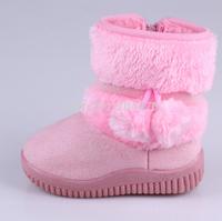 2014 Winter Girls Snow Boots Children Boots Anti-Slip Warm Plush Kids Shoes Drop Shipping