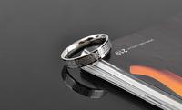 Fine jewelry love letter silver glossy Men titanium ring
