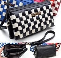 Bolsas Femininas Small Bags Zipper Patchwork Women Day Clutches Casual Vintage Messenger Bags Ladies Weave Shoulder Bags