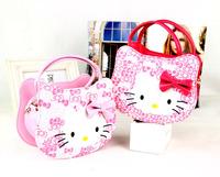 2014 winter fashion chledren girls hello kitty hand bags kids pink princess cross body bags Christmas gift DZ25