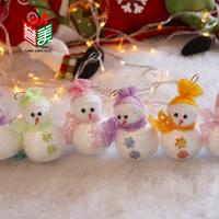 Christmas tree ornaments accessories 13CM Christmas Snowman Pendant Christmas Decoration Snowman doll combination 10PCS/Packs