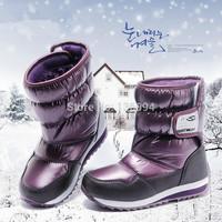 China  Brand children boots 2014 children winter shoes boys & girls boots waterproof slip-resistant fashion kids snow boots Q221
