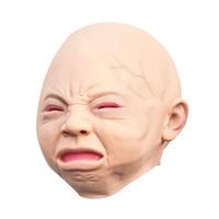 Latex Scary mask Costume Halloween Creepy Cry Baby Full Head Face Latex Mask