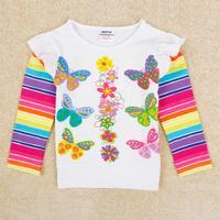 Kids baby wear Nova brand children New fashion girl t shirt Floral Autumn long sleeve t shirt for girl F5405