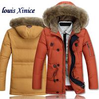 Men down coat Men's coat Winter overcoat Outwear Winter jacket hooded thick fur jackets