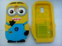 Despicable Me Minions 3D For Samsung galaxy S5 mini G800 Cute Lovely S5 Soft Rubber Silicone Phone Cases Skin Back Covers Case
