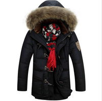 2014 high quality  winter jacket men coat  warm white goose down jacket coat business winter coat outdoor men clothes 206B