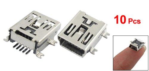 10 x Mini USB 5 Pin Socket Female Solder Plug Adaptor Connector(China (Mainland))