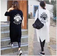 Women Sweater Detonation Yushoukuan New Personalized Glasses Han Guodong Gate Pattern Knitting Cardigan Sweater Coat Female Long