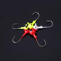 5Pcs Lead Round Head Carbon Steel Fishing Jig Hooks Sharp Fishhooks Set Colorful Fishing Tackles 2.5/3.5/5/7/10g