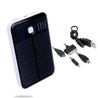 5000mAh Solar Panel Portable Power Bank 2 USB Port External Charger led indicator for iPhone iPad Samsung Nokia Smartphone 20PCS