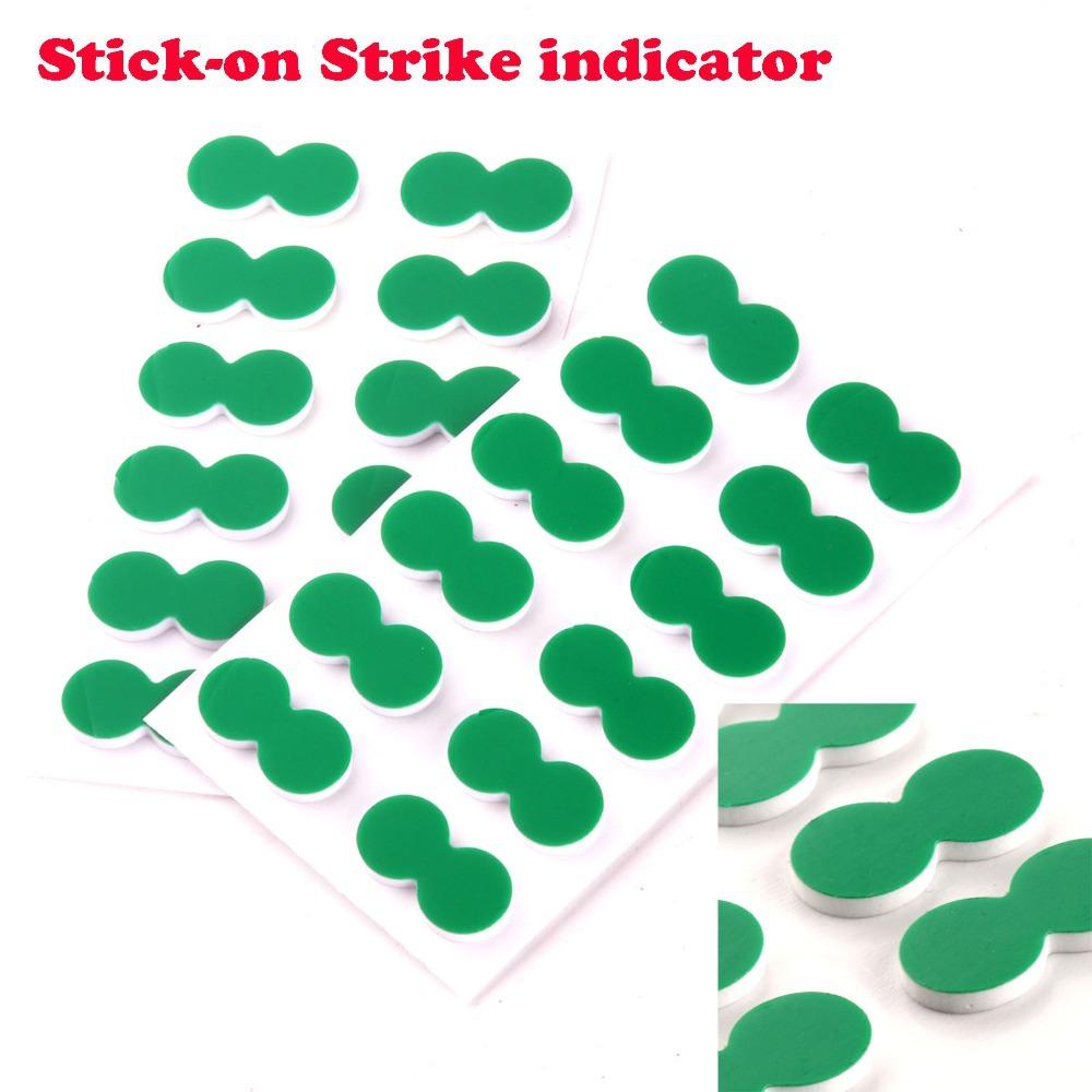 Free shipping 24pcs New green self-adhesive foam fly fishing stick on strike indicator(China (Mainland))