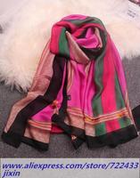 Classic Chains Pattern French Scarf Shawl Bufandas Imitation Silk Rayon Scarves Foulard Women Infinity Scarf 180 * 90 cm