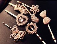 [Min order 15USD]Hot Hair jewelry Lovely Ladies Rhinestone Crown / heart / Bowknot Hair Clips Bobby Pins Hair pin Barrette Girl