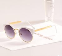 New 2014  Semi-circular retro cat eye glasses glasses frame fashion women sunglasses