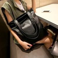 2014 women's handbag solid color soft simple elegant handbag personality brief one shoulder big bag