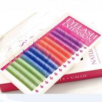 Top Quality Glitter Eyelashes 4 Colors Individual Eyelash Extension Blink False Eye Lash Freeshipping