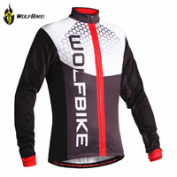 WOLFBIKE Winter Thermal Fleece Cycling Jersey long sleeve Cycle clothing Bike Warmer Wear Bicycle Clothes Coat camisa ciclismo
