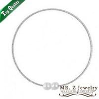 Rhinestone Pearl Choker Collar Necklace Women Fashion Jewelry 5pcs/lot Free Shipping