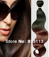 Discount!!Oxette virgin brazilian body wave two tone ombre #1b/#33 Auburn hair weft extension weave 3 or 4 bundles per lot