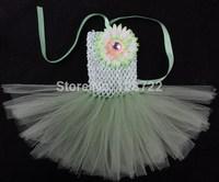 Free Shipping 2pcs/lot Fashion Hot handmade baby girl tutu dress flower girl tulle dress birthday princess flower girl dresses