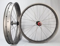 2015 Toray T800 Carbon Fat Bike Wheels, Snow Bike Wheelset, Clincher And Tubuless Carbon Fiber Whleels UD Matte