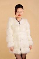 2014 fox fur coat medium-long short design vest female overcoat