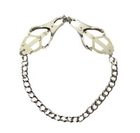 Fetish Stainless Steel Nipple Clamps Chain Clover Style