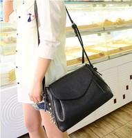 Women's handbag 2014 vintage rivet all-match black formal one shoulder mini cross-body bags