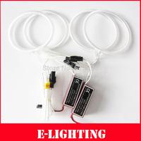 Ultra Bright Headlight illumination CCFL Angel Eyes 2 x115 + 2 x 105MM Halo Ring Bulb Kit for  Lada Priora