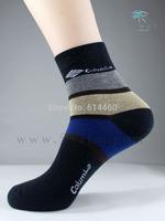 Men's Casual Sport Socks Cotton High Quality Stripe Color Socks 5pairs/lot Free shipment