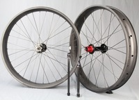 Chinese popular carbon wheelset, fat bike clincher and tubuless wheelset for sand and snow bicycle use