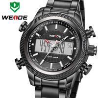 Special Unique Army Watch Japan Quartz + LCD Display Classsic Men's Sports Watch Waterproof Fashion WEIDE Watch Drop Shipping