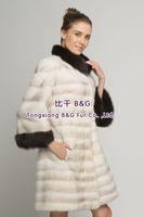 BG70786  2014 Genuine Winter Mink Fur Overcoat   Winter Ladies Long Clothes