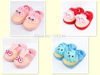 Children Home Shoes  Kids Winter Warm Cartoon Bear Rabbit Dog Slippers Anti-slip Soft Cotton Cute Indoor Shoes For Kids