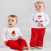 Sweet Baby Boys Girls Casual Christmas Homewear T-shirt Pants Pajamas 2pcs set