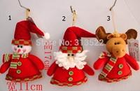 125 pcs/lot EMS Free Christmas decorations, Christmas tree ornaments Christmas gifts Christmas Snowman Santa Claus reindeer