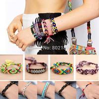 2015 New 15 styles Customized Friendship Bracelet Boho Hope Peruvian Wool Bracelets Handmade Ethnic New Folck Art Peru