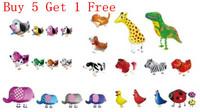 5Pcs Cartoon Walking Pet Animal Foil Balloons Helium Airwalker Party Birthday Christmas Decoration Kids Gift Toy You Pick Up