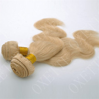 Oxette 100% real remy hair platinum blonde remy hair extensions Brazilian hair body wave hair weft weave extension