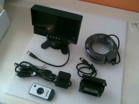 24 voltage truck parking system 7 inch monitor reverse camera