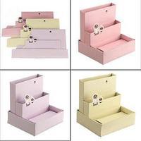 2014 New FA Eco-Friendly DIY Paper Board Storage Box Desk Decor Stationery Makeup Cosmetic Organizer AF