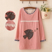 New cartoon sweater women sweater hedging selling embroidery students Sweater autumn blouses casual fashion women