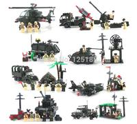 Hot Toy Enlighten Building Blocks Military Combat Zone Tank Fighter 8 sets/lot Assembling Blocks DIY Model Building Gift for Boy