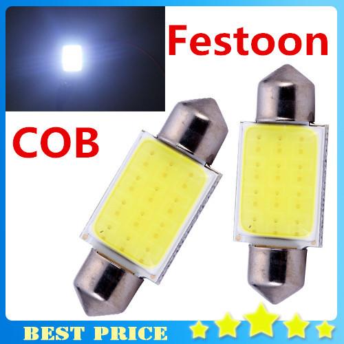 2014 New Products 2pcs/lot 31mm/36mm/39mm/41mm 12V COB Festoon LED Car Bulb Auto Led Interior Light Lamps parking Free Shipping(China (Mainland))