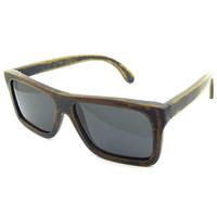 2014 wooden sunglasses hand made oculos de sol feminino  bamboo stain frame UV400 Driving fishing sunglasses 6010