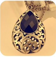 F09133/5 1Piece Retro Europe Style Alloy Drop Pendant Sweater Necklace Coat Long Chain Jewelry Best Gift for Women freeship