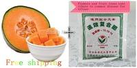 100 Cantaloupe seeds + 1 bag fertilizer,DIY Your Own Fruit Garden ,Free Shipping