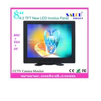 "aliexpress ! 8""  lcd cctv  monitor with AV/VGA/BNC input for CCTV camera+security system"
